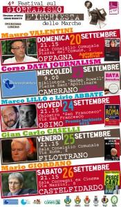 Locandina Festival del Giornalismo delle Marche